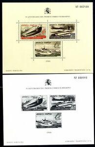 Hojitas-ano-1988-50-Aniversario-primer-correo-submarino-en-color-y-en-negro