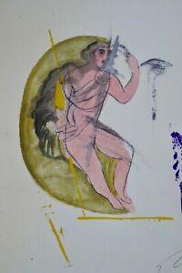 Sandro Chia, serigrafia 1992, firmato, 30/100, PORTAFOGLIO Columbus