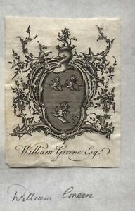 18th-19th-Century-EX-LIBRIS-Book-Plate-WILLIAM-GREENE