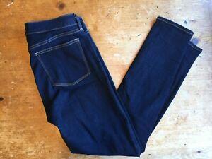 J-Crew-Womens-Jeans-Size-29-30-Dark-Wash-Slim-Skinny-Cotton-Stretch-B45