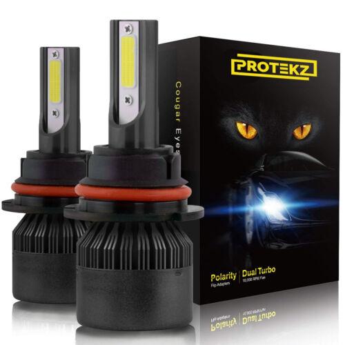 Protekz 6K LED HID Headlight kit H4 9003 White for 1993-1997 Honda Civic del Sol