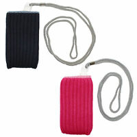 BRAND NEW MOBILE PHONE STRETCHY SOCK SLEEVE POUCH LANYARD IPHONE IPOD HOLDER