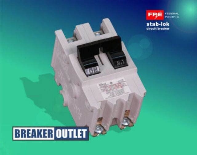 Federal Pacific Electric Type NA Stab-Lok Circuit Breaker 2P 120//240VAC 70A