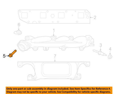 CHRYSLER OEM Exhaust Manifold-Exhaust Manifold Bolt 6510140AA