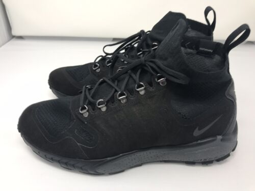 New Nike Zoom Talaria Flyknit Sneaker Boots Black 856957-001 Men Sz 10.5