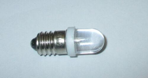 kaltweiß für Krippen LED Schraubbirne E10 3,5-4,5Volt Puppenhäuser  *NEU*