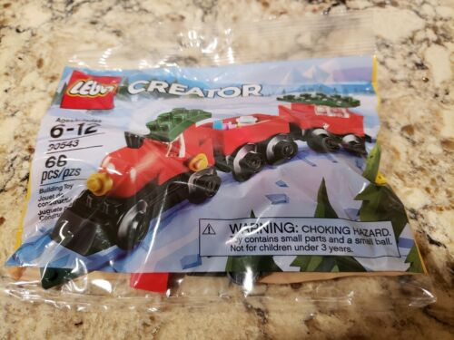 Authentic NEW Lego Creator 66 pcs Holiday Christmas Train #30543 Polybag
