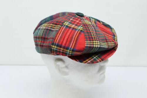 VTG Shandon Mens Patchwork Tweed Hat Golf Stewart