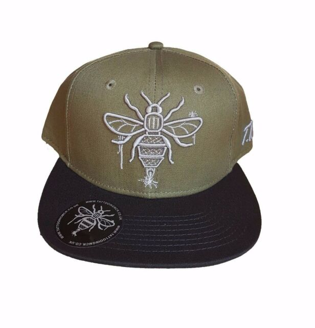 Tattooing Manchester Bee Olive khaki Snapback Cap for sale online  7e31b346d03