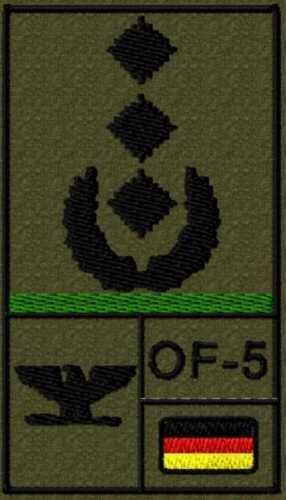Bundeswehr Rangabzeichen Klett mit Litze Oberst bzw Oberstarzt