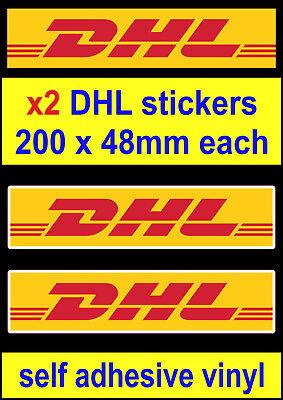 2 DHL sponsor stickers rally race sports car van truck decals mini bicke  toolbox   eBay
