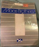 Vintage 1980's Maas Brothers Fashion/polka Dot Pale Blue Pantyhose