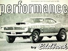 1970 Plymouth Barracuda Sox Amp Martin Original Edelbrock Ad 426 Hemidecalhood Fits 1973 Barracuda