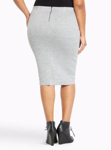 67761e098b0 ... Torrid Ribbed Pencil Skirt Gray Size  26  06549