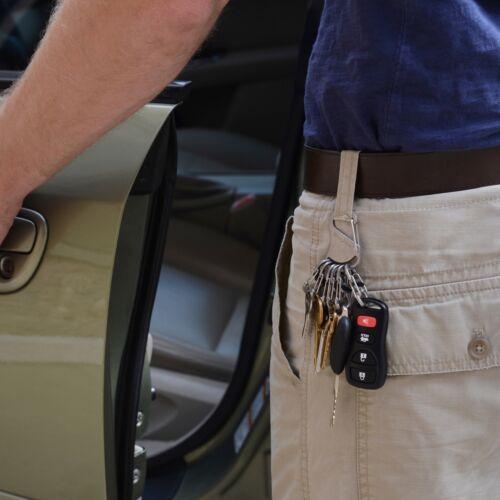 Nite Ize KeyRack Locker Stainless Steel Keychain w//Locking S-Biner Key Clips