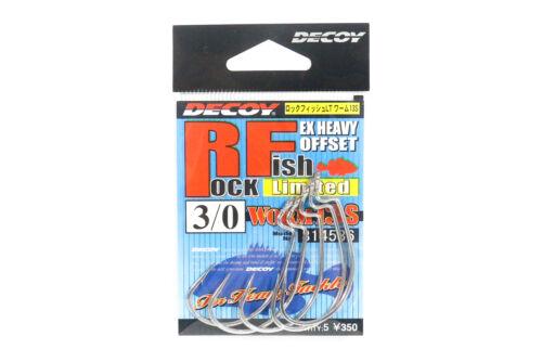 Decoy Worm 13S Rock Fish Ltd Extra Heavy Duty Worm Hooks Size 3//0 4536