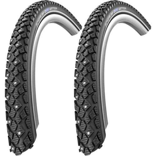 2x Winter Wire Reflex 42-355 Birdy Black 11100906 Bike Tyre