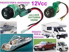 PRESA ELETTRICA 12V con ACCENDINO e LUCE PANNELLO per BARCA CAMPER ROULOTTE AUTO