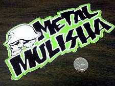 "METAL MULISHA Large Green 8"" Logo Sticker Car Window Decal Motocross Supercross"
