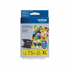 Brother LC75Y XL Yellow Ink Cartridge MFC-J280W Genuine New Sealed
