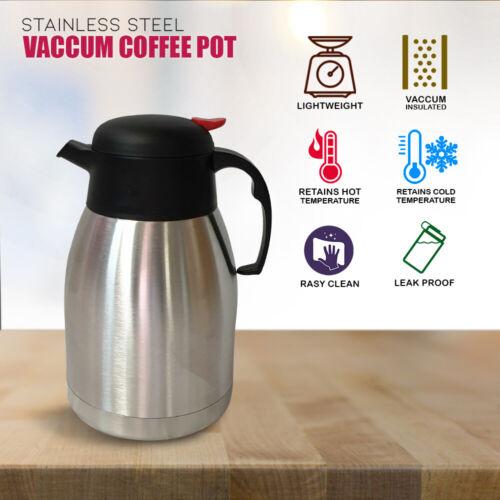 Acier Inoxydable Café Thé isolation sous vide flacon pot température Cafetière 1.5 L