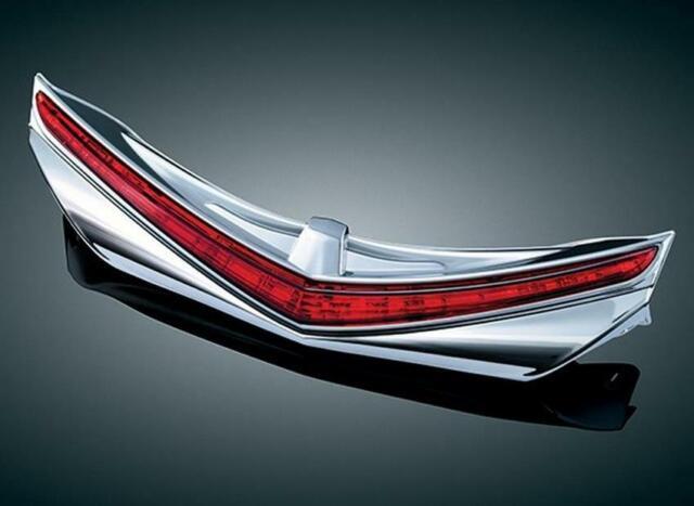 Kuryakyn LED Rear Fender Tip with Run-Brake Accent Chrome w//Red Lens 3236