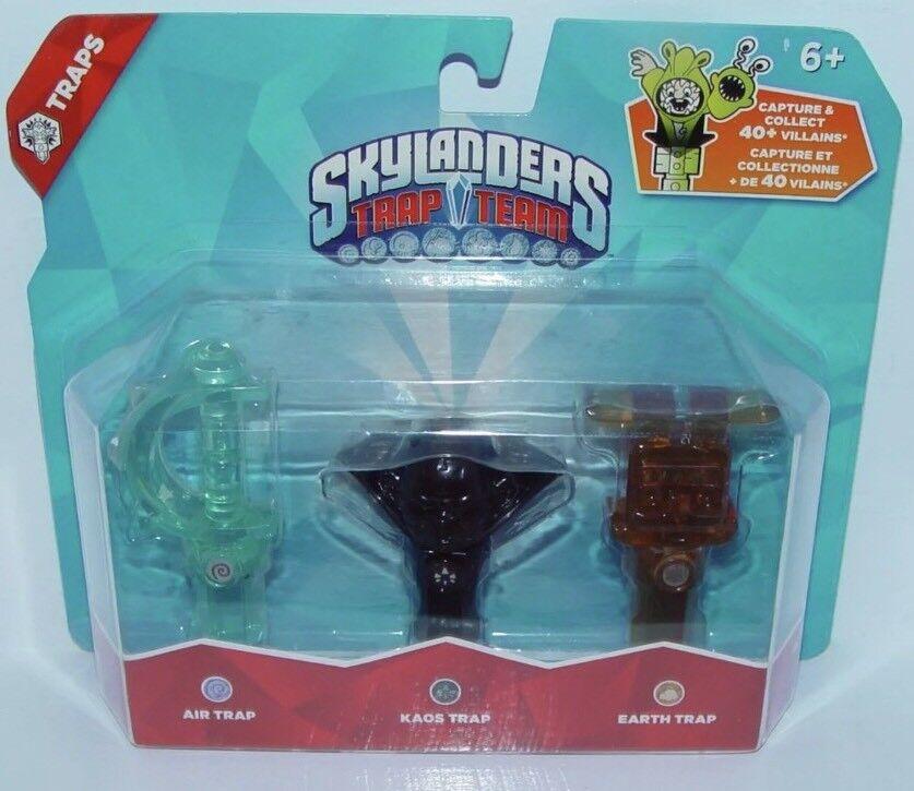 Skylanders Traps Lot Kaos - Air Sword   Dagger - Earth Bunny - Trap Team - New