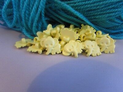 19x13mm White Bunny Rabbit Buttons on a Shank in Packs of 2 5 or 10