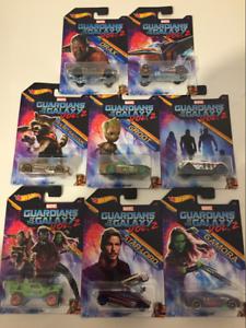 heta hjul Guardians of the Galaxy Vol 2 Set of 8 bils DWD72