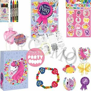 Kids-Ready-Made-Pony-Paper-Party-Bags-Boys-Girls-Filled-Bags