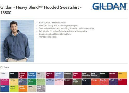 6 Gildan Heavy Blend Hooded Sweatshirt Hoodie ok to mix 2XL-5XL /& Colors
