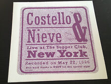 Costello & Nieve Live at The Supper Club New York 1996 CD WB PRO-CD-8427 4trks