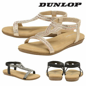 Dunlop-Ladies-Womens-Slip-On-Open-Toe-Sandals-Shoes-Padded-Insock-Sizes-3-8