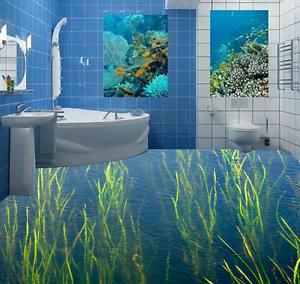 3D Nature Seaweed Lake 7 Floor WallPaper Murals Wall Print Decal AJ WALLPAPER US