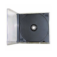 100 Single Standard Black CD DVD JEWEL Case Assembled 10.4mm