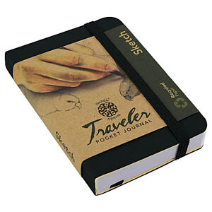Travelers Recycled Sketch Book 3X4 Black