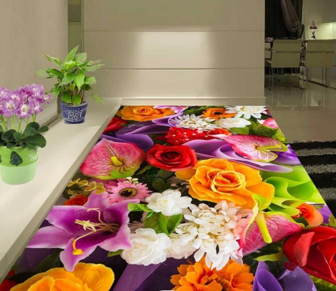 3D Fresh Flowers 748 Floor WallPaper Murals Wall Print Decal 5D AU Lemon