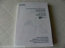 Yamaha DVX-S120 / DVR-S120 Owner's Manual  Operating Instruction   New