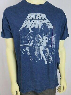 NEW Lucas film Logo rare classic Star wars black  T-shirt Tee