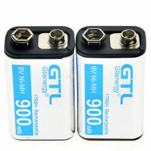 1-24PCS-GTL-Black-Durable-9V-900mAh-NiMh-Power-Rechargeable-Battery