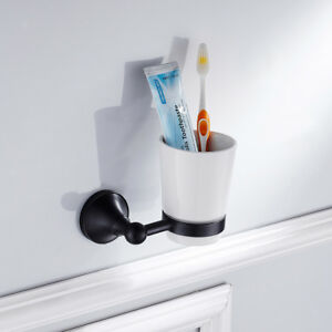 Image Is Loading Wall Mounted Bathroom Toothbrush Holder Set With Storage