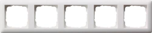 Gira Steckdose//Wippen//Schalter System55 reinweiß seidenMATT Rahmen Standard55