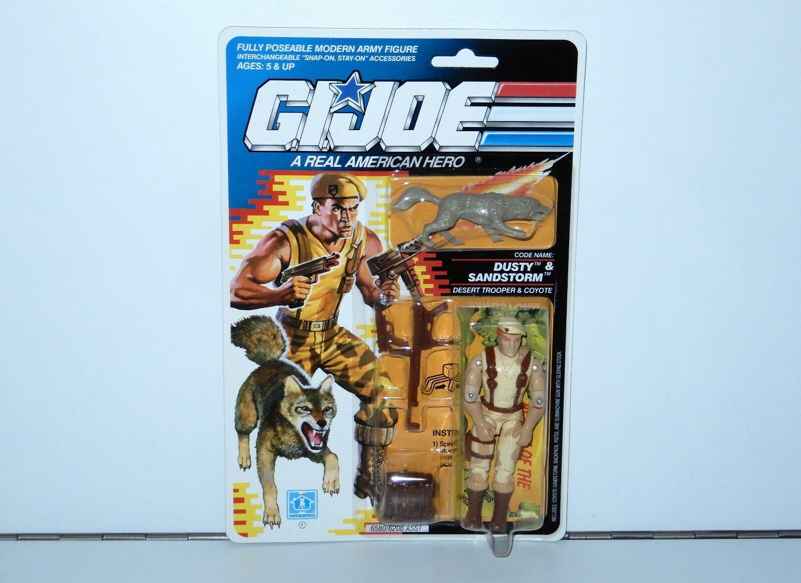 1991 GI JOE DUSTY & SANDSTORM v3 MOC MOSC HASBRO USA
