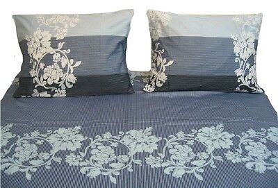 DaDa Bedding Soft Paisley Floral Leaves Fitted Sheet Set /& Pillow Cases Shams