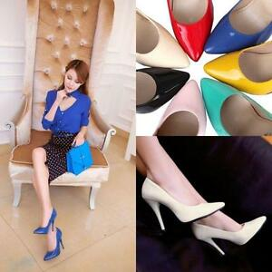 Classic-Womens-Pumps-High-Heel-Stiletto-Pointy-Toe-Slipon-Party-Shoes-Plus-Size