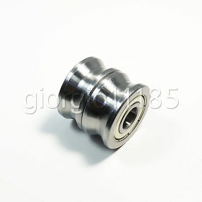 2Pcs V Groove  Track Roller Guide Vgroove Sealed Ball Bearing 10*30*14mm New