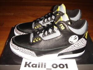 08d3b8ad95145 Nike Air Jordan 3 Retro Sz 11.5 Oregon Duck Pit Crew PE Promo Black ...