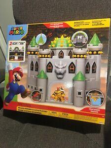 Details About Nintendo Super Mario Deluxe Bowsers Castle Playset W Exclusive Bowser Figure