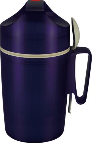 Kunststofflöffel Thermoskanne Essenbehälter Blue Isolier-Speisegefäß 0,85 Ltr