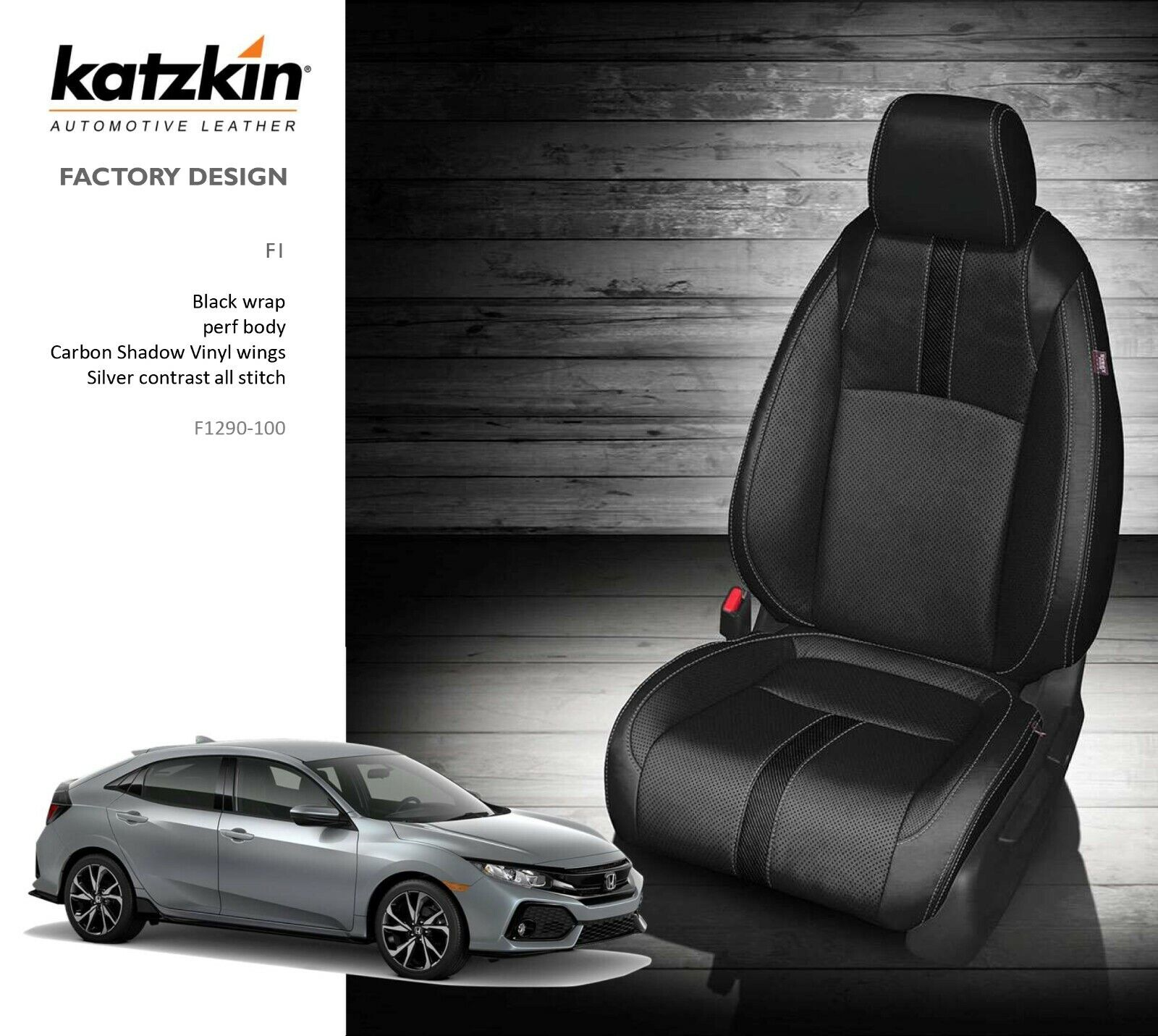 Tz Leatherette Custom Exact Fit Full Set Car Seat Covers Front Rear Seat Covers For Honda Civic Hatchback 2016 2017 2018 2019 2020 Black With Red Trim Seat Covers Accessories Accessories